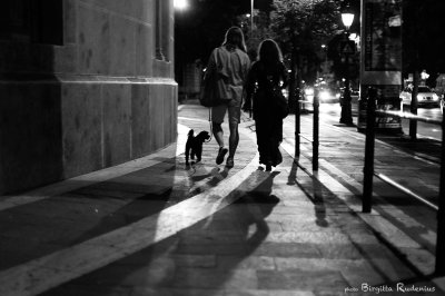 Street Photography - Late sunset walk