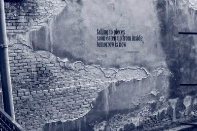 #haiku Blue Falling to pieces