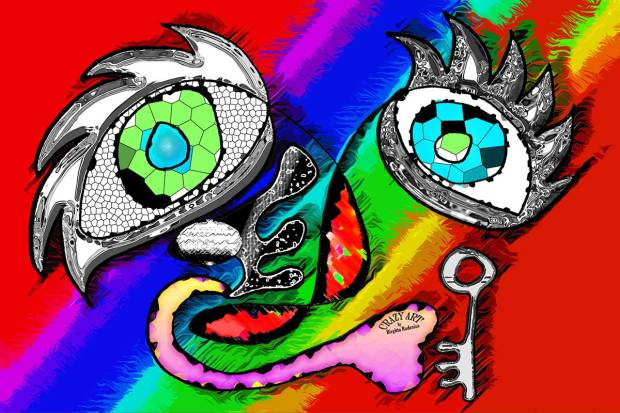 Crazy Art by me - Key of Life