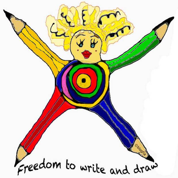 Freedom to write and draw