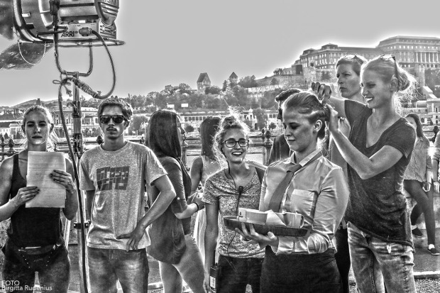 Film shooting in Budapest