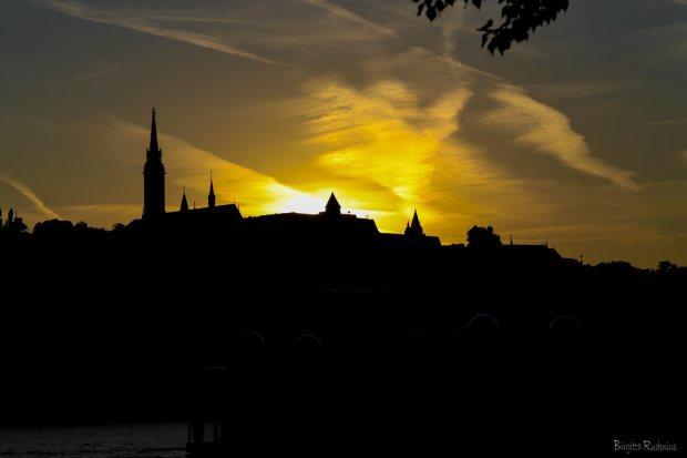Sunset Buda side, Budapest