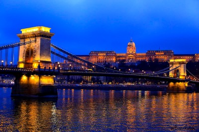 Chain Bridge and Buda castle, Budapest