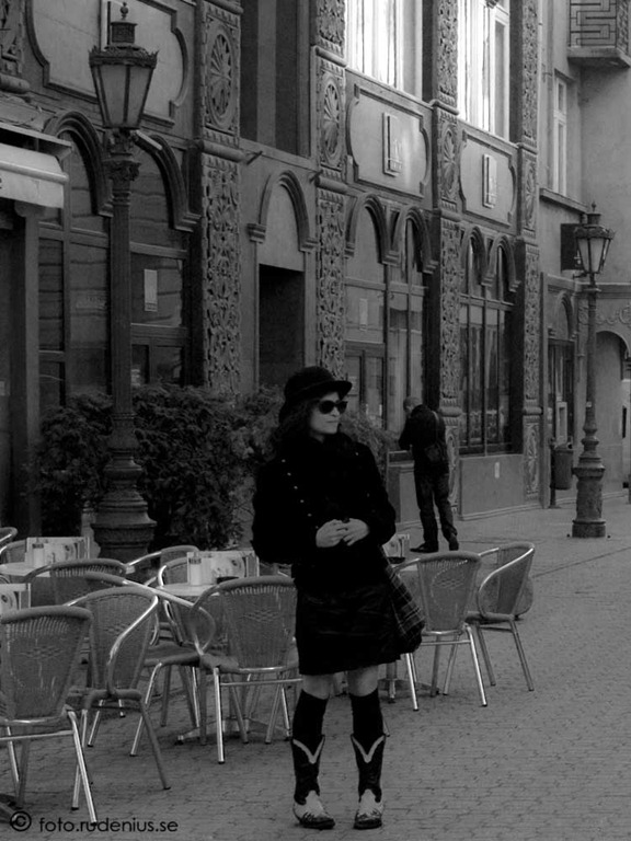 My first Street Photo - Lady in black 2010.