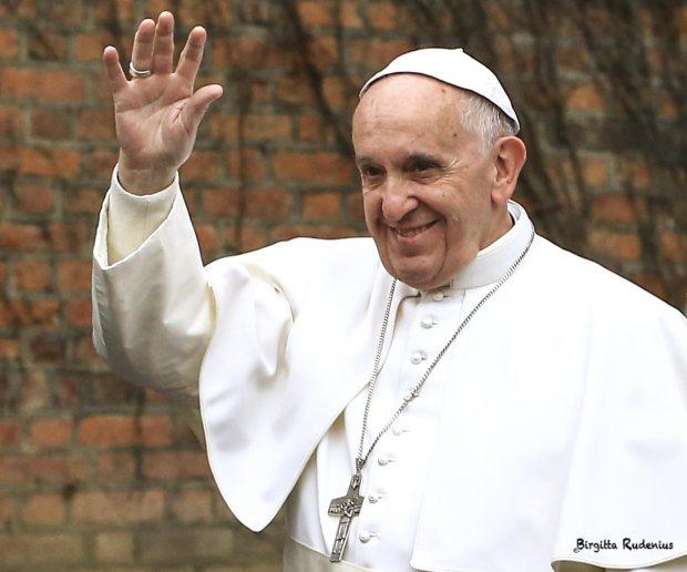 Pope Franciskus in Lund Sweden 2016-10-31.