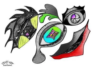 Crazy Art by me - Säkrad Skrivpuff