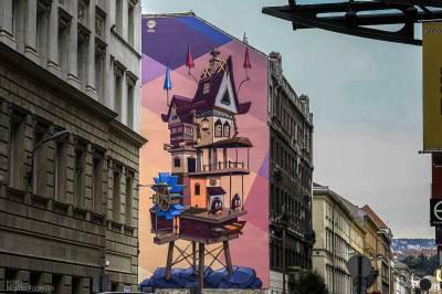 Street Art - Art on wall, Budapest