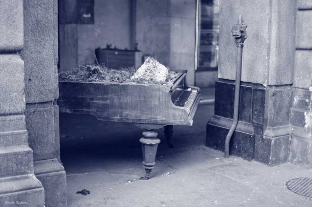 Blue Photo - Piano in the Street