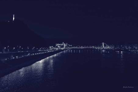 Budapest by night - River Danube, Buda Castle, Statue of Liberty and Chain Bridge