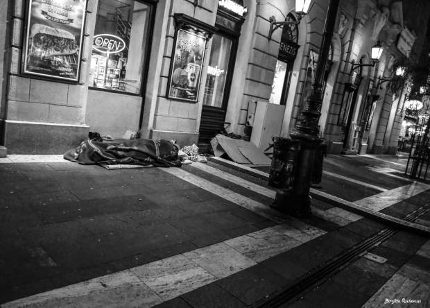 Street Photo - Homeless at Christmas