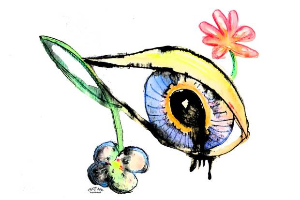Crazy Art by me - Sad eye made for Yazidi Women