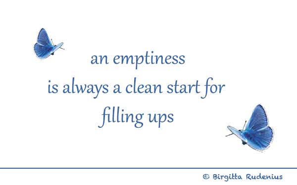 BR poetry - Emptiness & Filling ups