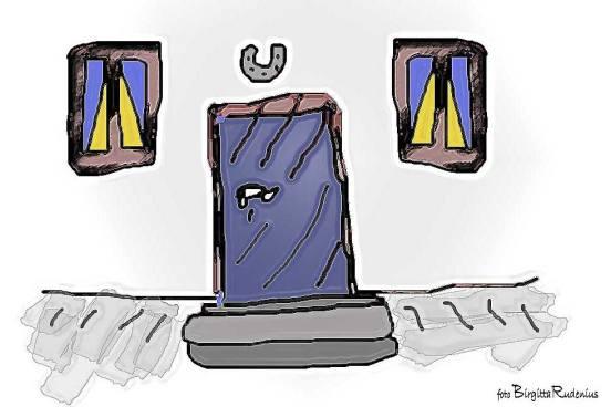 Crazy Art by me - The HorseShoe Door