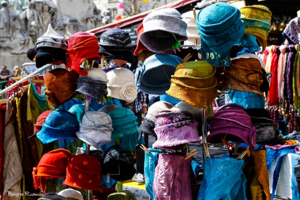 Hats - Market Place in Budapest