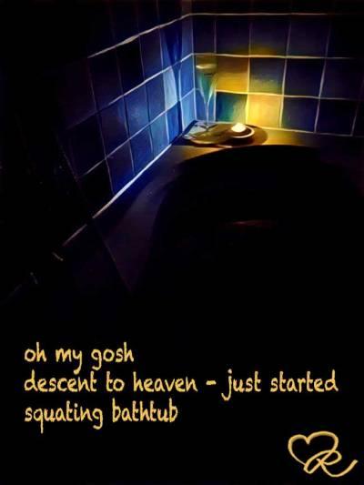 BR poetry - Heavenly Hot Bath.