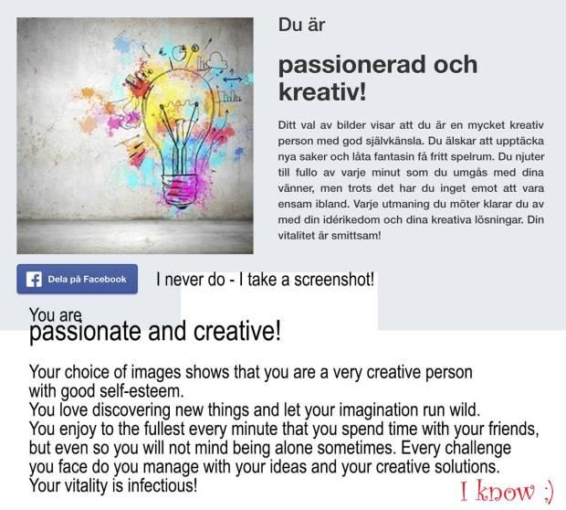 Test Creativity - Result.