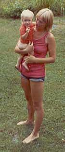 Lina Sofie och jag, 1973 i Luhr.