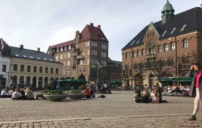 Stortorget in Lund, Sweden.