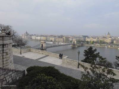 View from Buda side to Pest side, Budapest.
