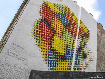 Street Art - Wall Art - Rubik - Budapest.