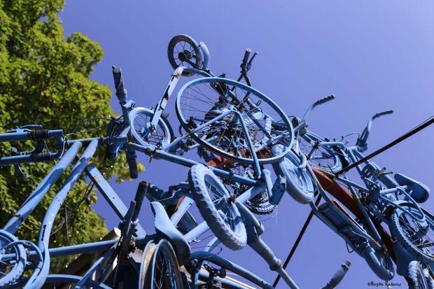 Blue Bikes - Art kind of.