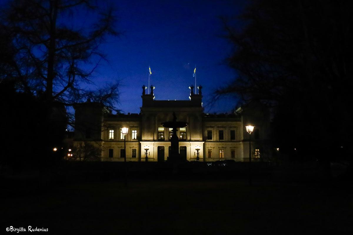 Lund University by night, Sweden.