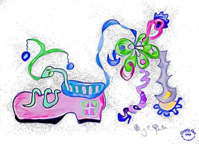 Crazy Art by me - Walk on By. Inte Carpe Diem.