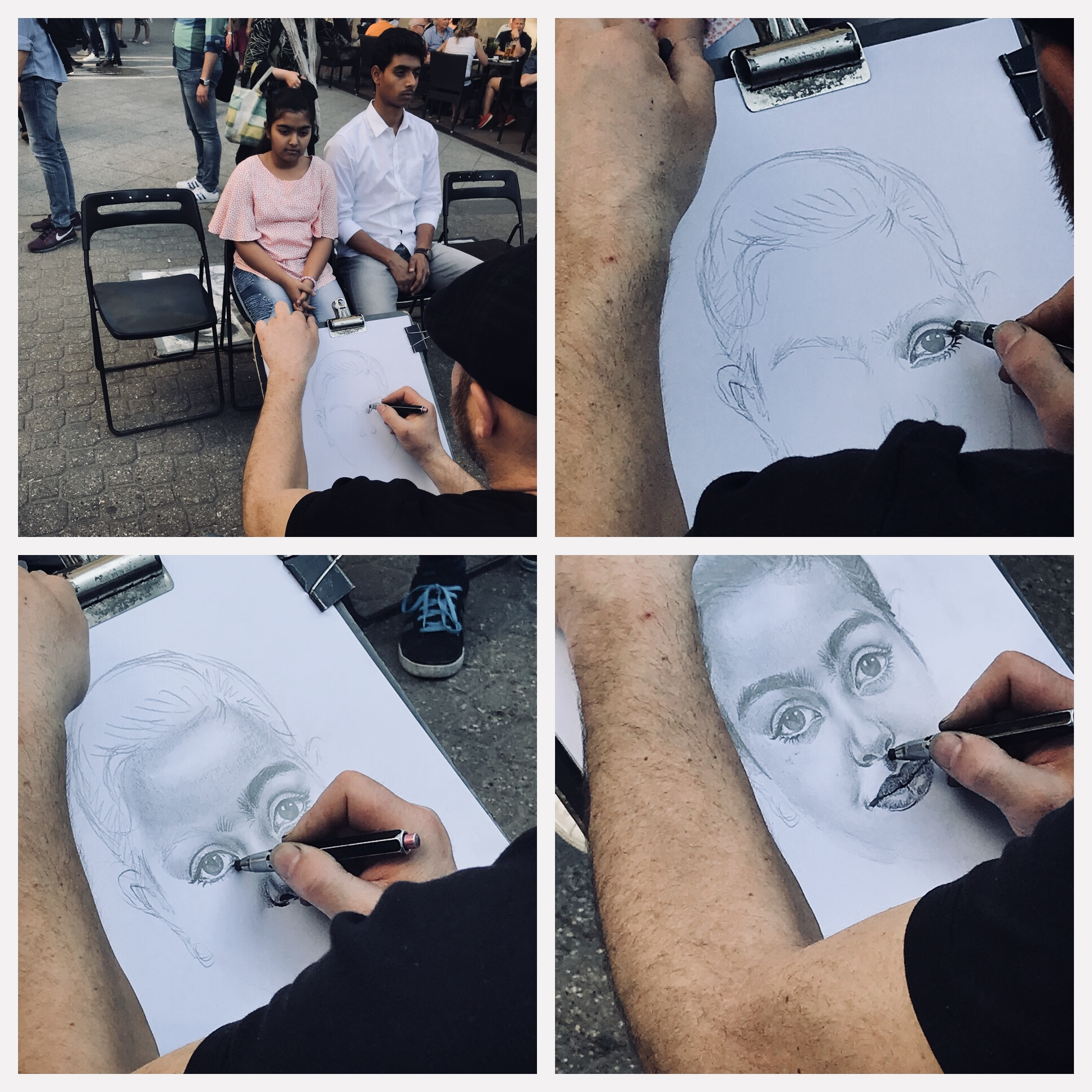 The Artist drawing - Budapest.