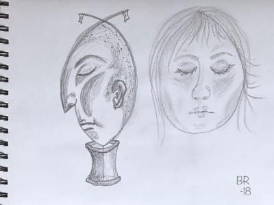 Faces - He and She - Birgitta Rudenius.