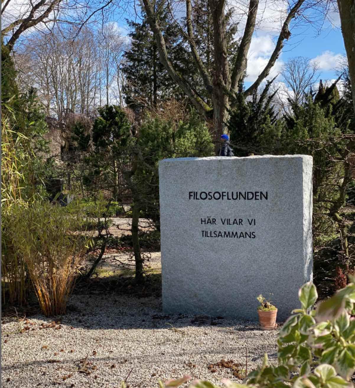 Gravsten - Filosofi, Norra kyrkogården, Lund