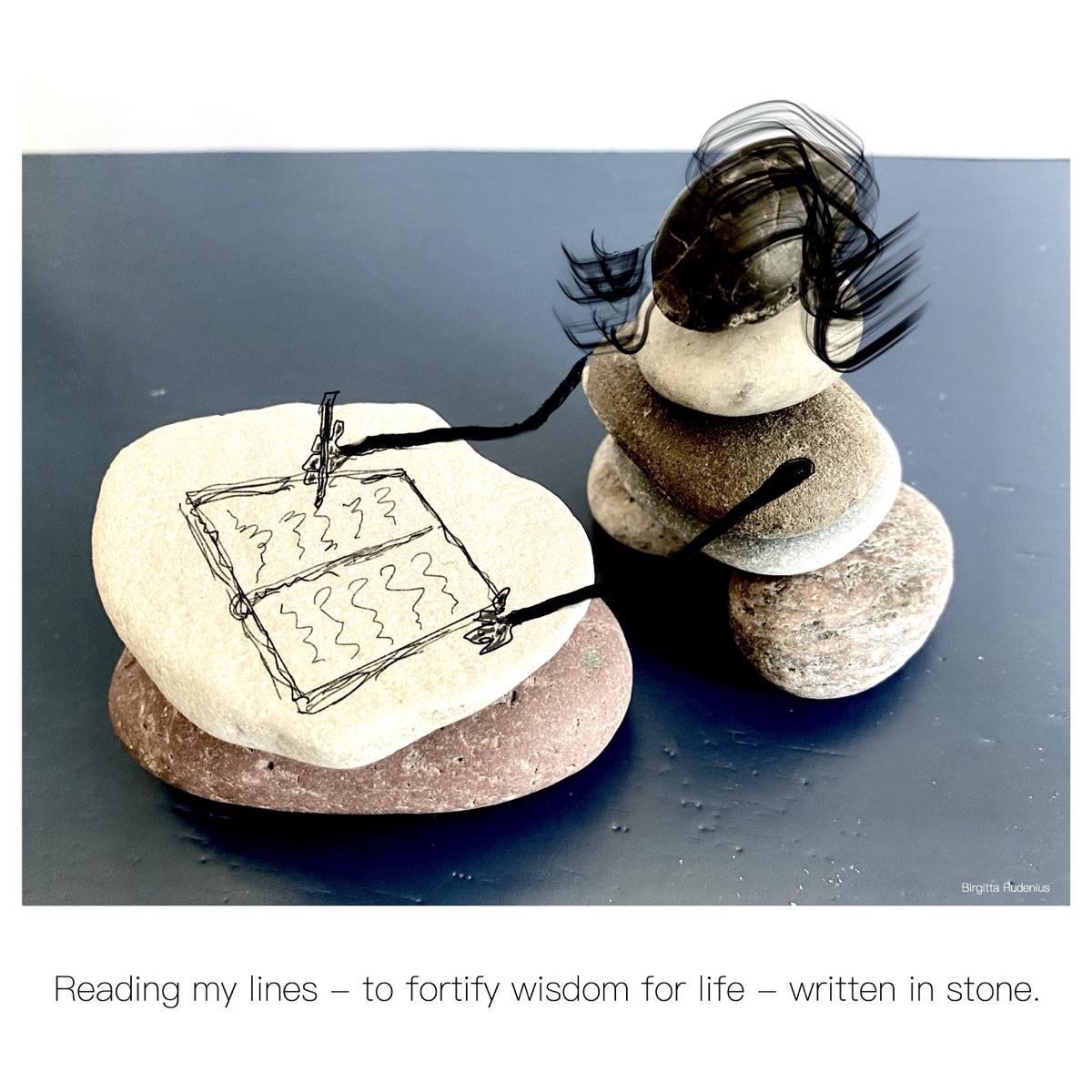 Written in stone - @ Birgitta Rudenius