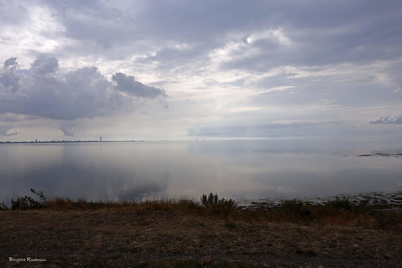 Öresund med Malmö och Öresundsbron © Birgitta Rudenius